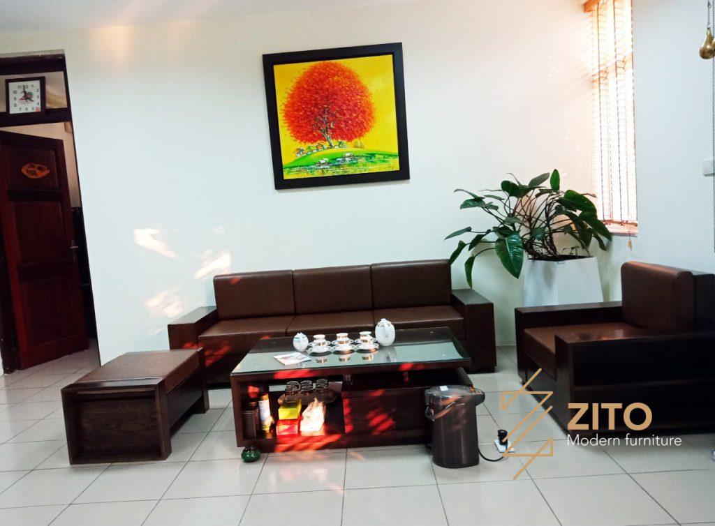 Chiêm ngưỡng hình ảnh thực tế sofa ZG 103 tại nhà anh Tuấn - Hà Nội
