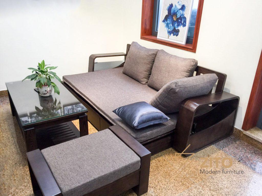 Sofa văng giường gỗ ZG 136, zg 136