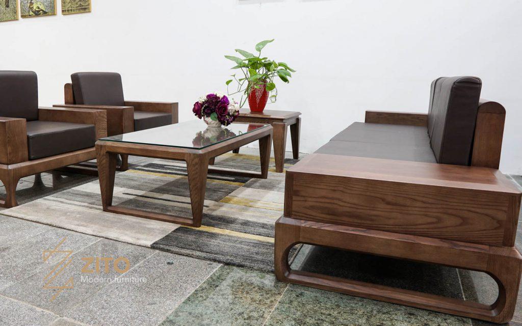 sofa gỗ chữ U ZG 138, sofa gỗ ZG 138, Zg 138
