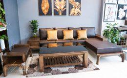 Sofa gỗ góc L ZG 139, zg 139