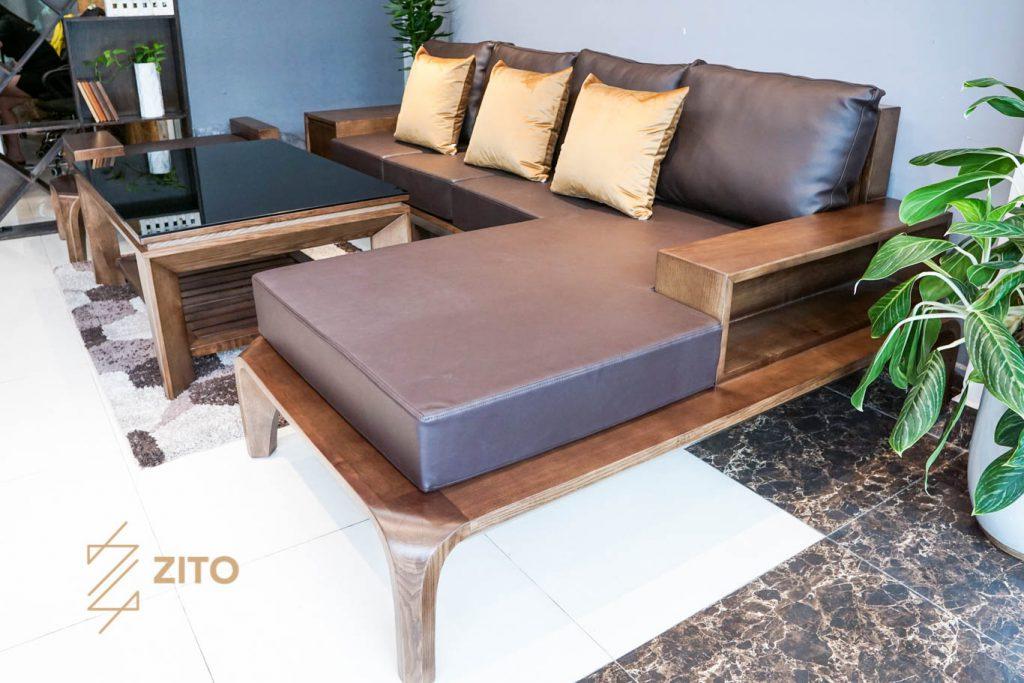 Sofa góc L ZG 139 sử dụng chất liệu đệm cao cấp