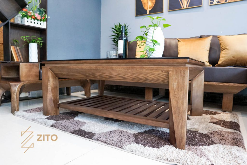 Sofa góc L ZG 139 làm từ gỗ sồi cao cấp