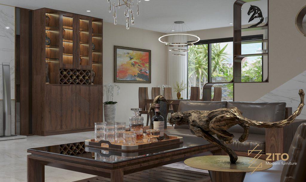 Thiết kế thi công nội thất biệt thự Venice, Vinhomes Hải Phòng