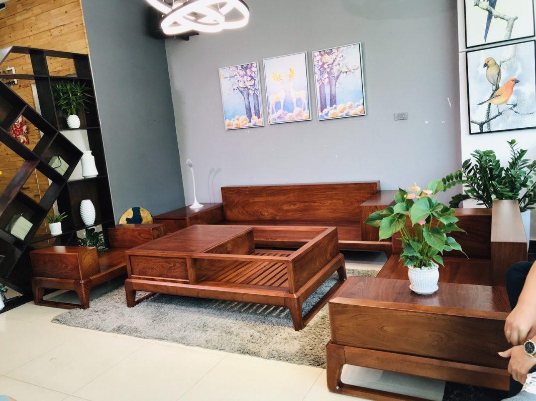 bàn ghế sofa gỗ hương đá