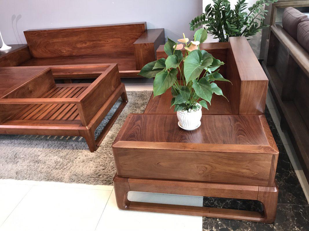 bàn ghế sofa gỗ hương