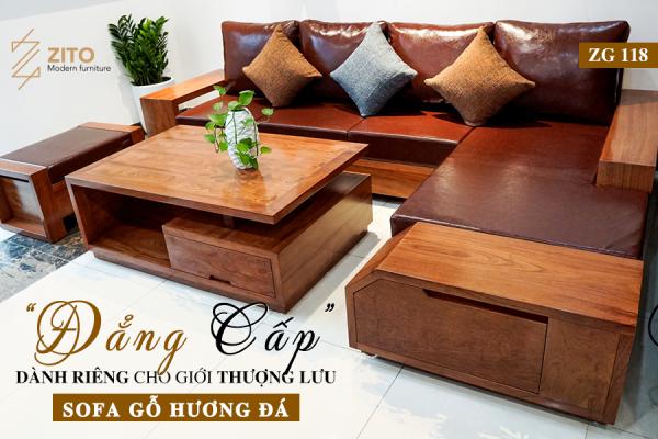 Top mẫu bàn ghế sofa gỗ hương đẹp hiện đại nhất năm 2020
