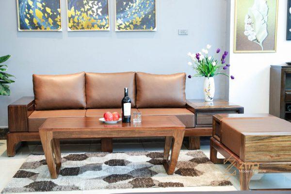 Mẫu bàn ghế gỗ mun đẹp hiện đại