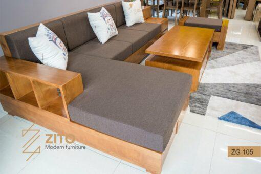 sofa gỗ zg 105 màu cánh dán