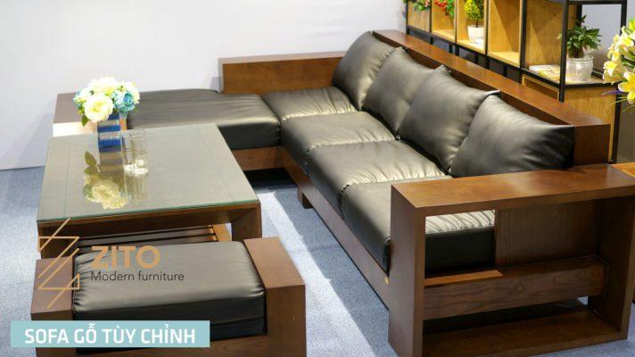 Sofa góc l gỗ sồi nga ZG 118 S05
