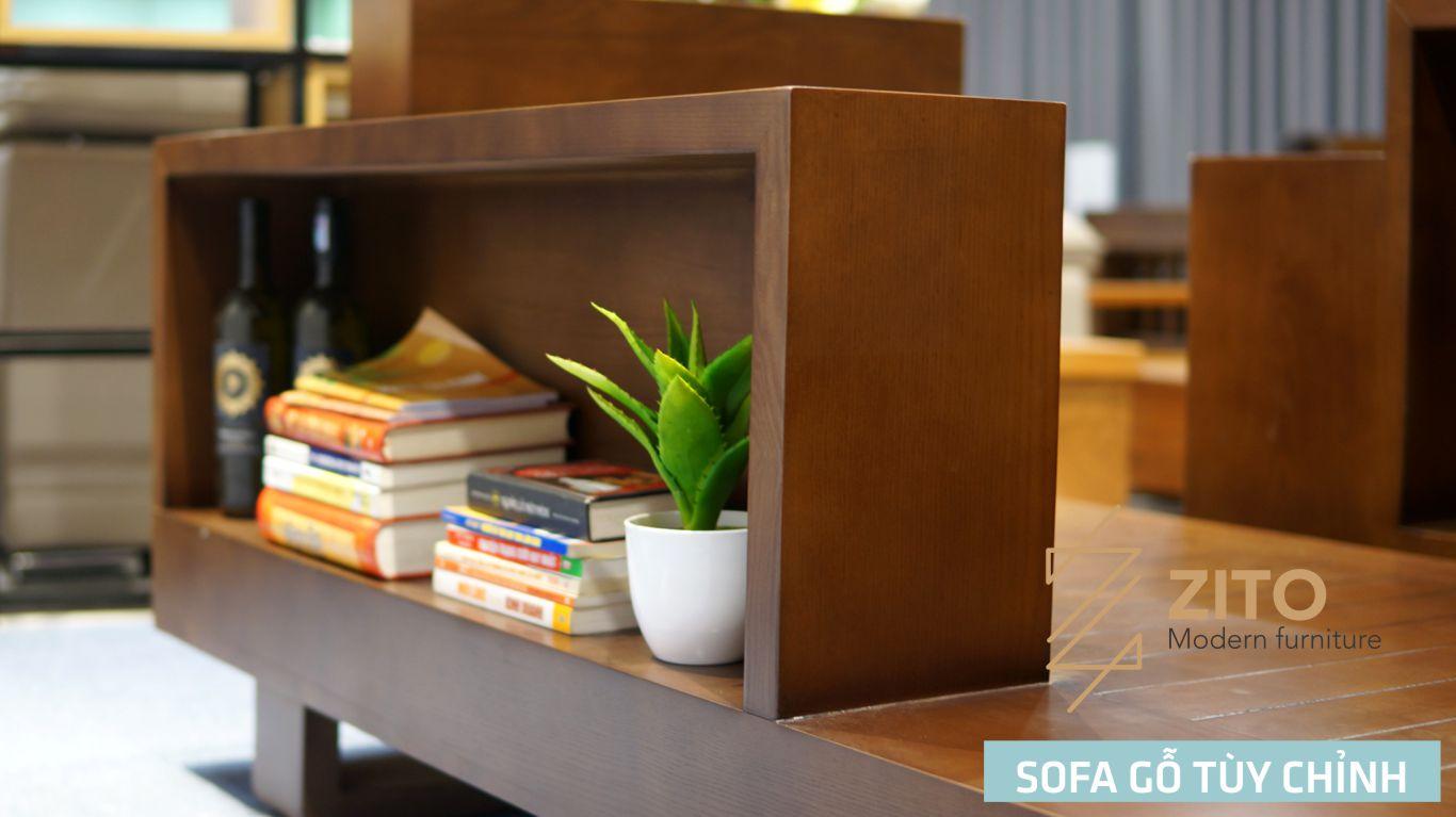 sofa gỗ sồi chữ L ZG 118 S05, ZG 118 S05