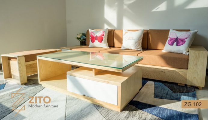 Sofa gỗ Sồi văng ZG 102 S01