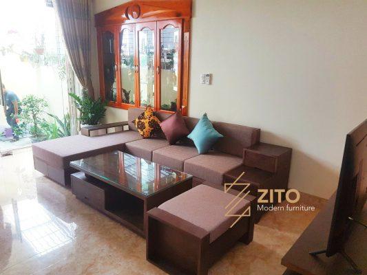 Chiêm ngưỡng hình ảnh thực tế bộ sofa ZG 105 tại nhà anh Cường – Hải Phòng