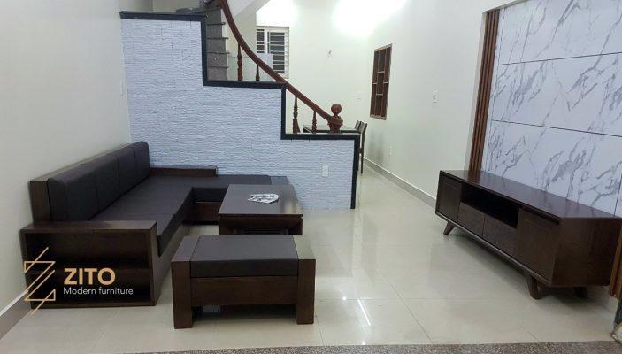 Chiêm ngưỡng hình ảnh thực tế bộ sofa ZG 112 tại nhà anh Trung – Hải Phòng