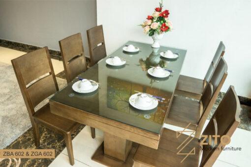 Bộ bàn ăn 6 ghế gỗ sồi của Nội thất ZITO