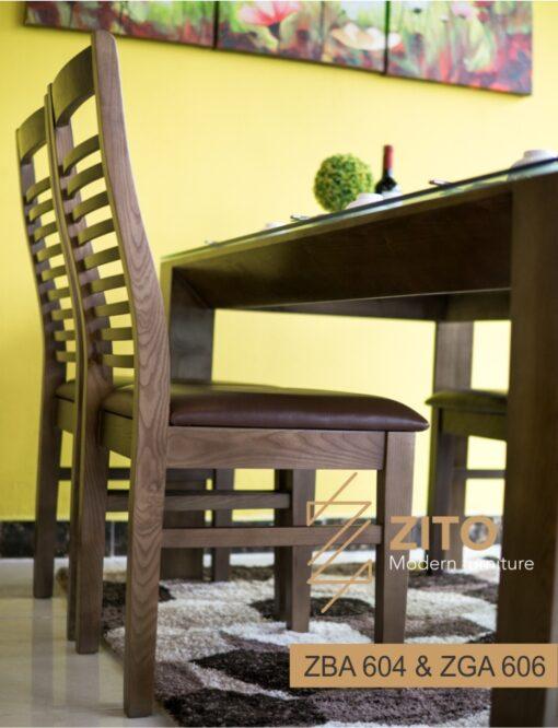 Kiểu dáng bộ bàn ăn nhỏ gọn hiện đại ZGA 604 & ZBA 606