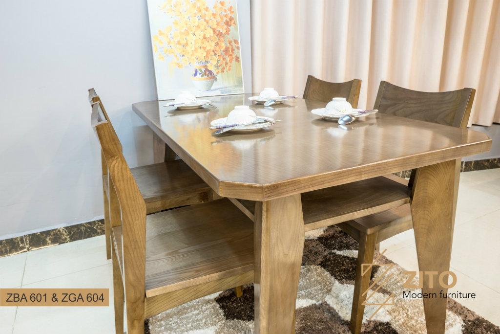 Bộ bàn ghế ăn gỗ sồi ZBA 601 & ZGA 604
