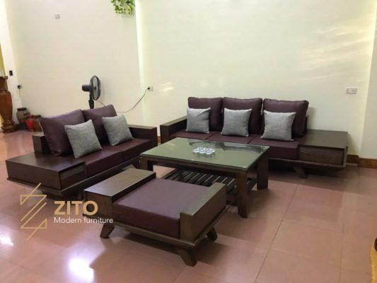 Hình ảnh bộ sofa ZG 129 tại nhà anh Việt