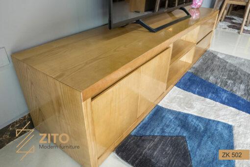 Thiết kế kệ tivi phòng khách ZK 502 đẹp đến từng chi tiết