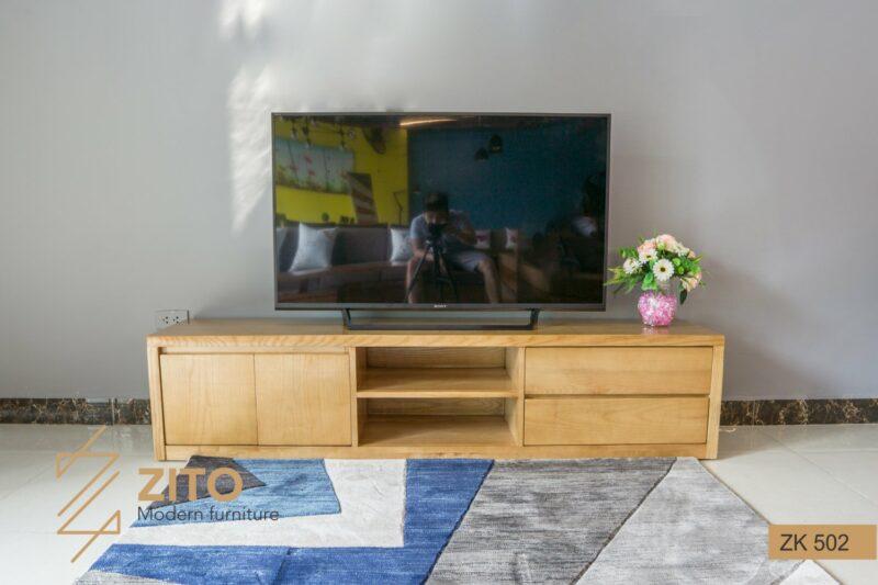 KE TIVI GO ZITO ZK502 6 Kệ tivi gỗ sồi ZK 502 S01