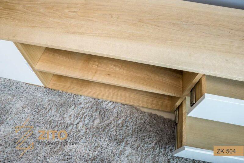 kệ tivi ZITO ZK 504 làm bằng gỗ sồi tự nhiên cao cấp