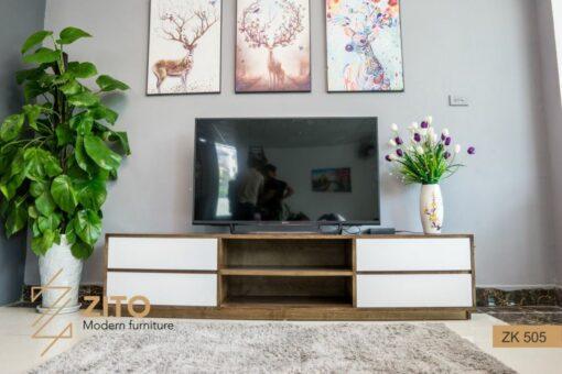 Kiểu dáng kệ tivi gỗ tự nhiên ZITO ZK 505 S08 rất bắt mắt