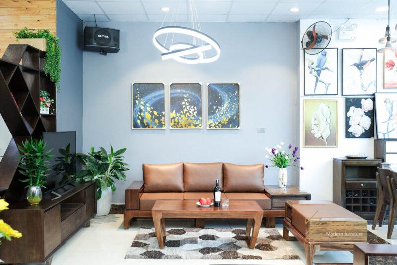 SOFA GO MUN ZG133 ZITO 23 Sofa văng gỗ mun ZG 133 hiện đại