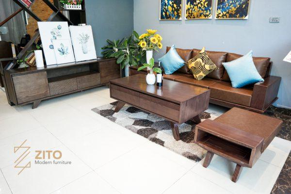 Sofa gỗ sồi văng ZG 130 S09