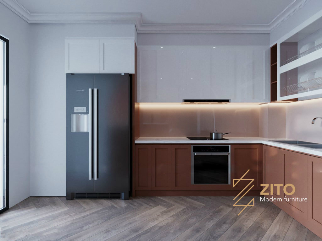 thiết kế không gian phòng bếp