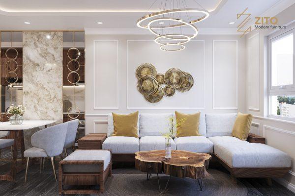 Thiết kế thi công nội thất căn hộ E2-12 – Dự án The Emerald