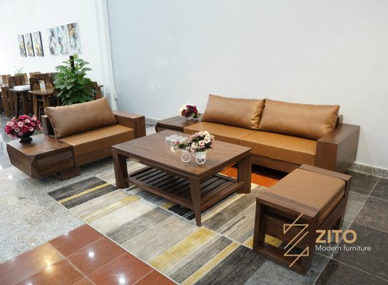 Sofa gỗ chữ U ZG 127