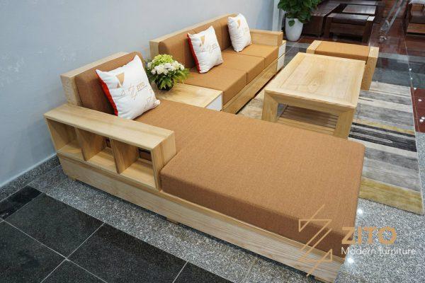 Sofa gỗ sồi nga chữ L ZG 110 S01