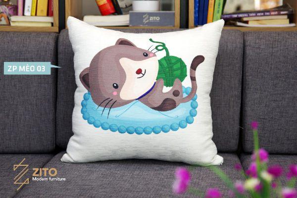 ZP MEO 03 GOI OM SOFA ZITO Gối ZP Mèo 03
