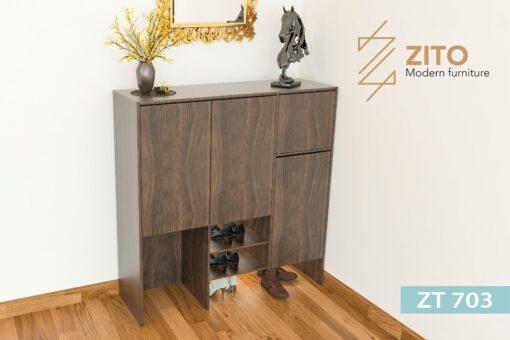 ZT 703 1 Tủ giày gỗ Sồi ZT 703