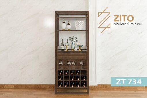 ZT 734 1 Tủ rượu gỗ Sồi ZT 734