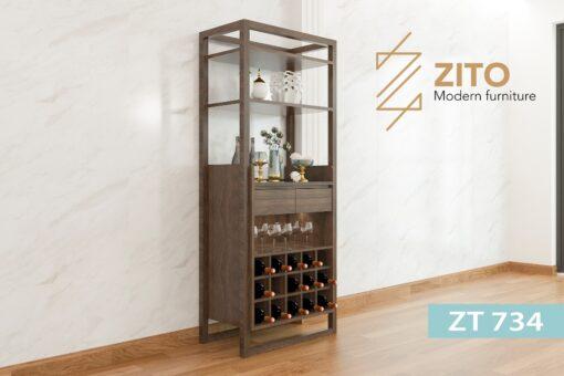 ZT 734 2 Tủ rượu gỗ Sồi ZT 734