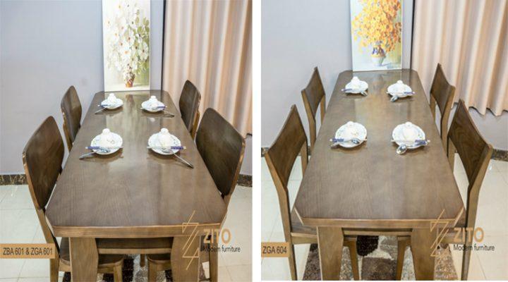 So sánh các mẫu bàn ăn 4 ghế gỗ tại Nội thất ZITO