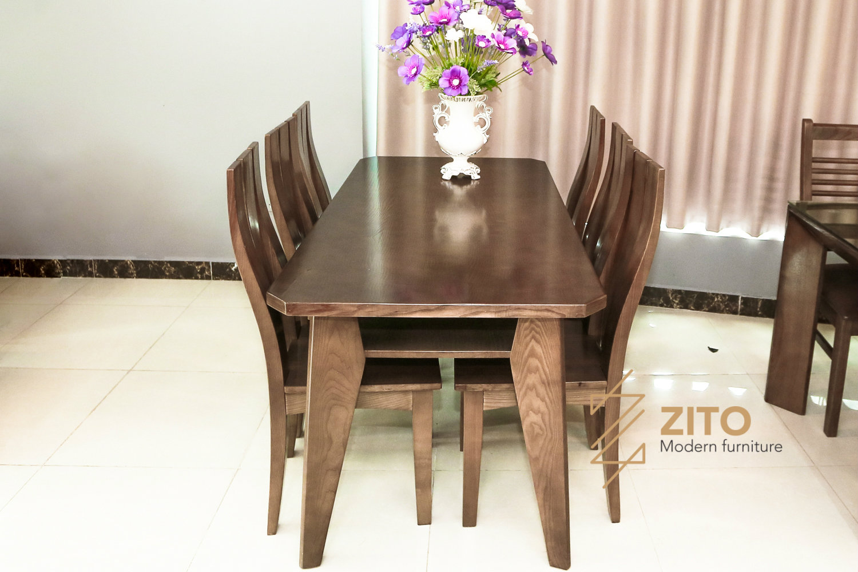 Bộ bàn ghế ăn gỗ sồi ZBA 601 & ZGA 603