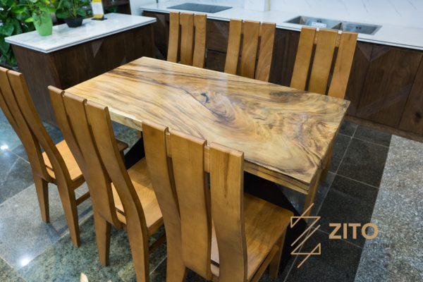 Bàn ghế ăn me tây góc vuông ZGA 603 S06