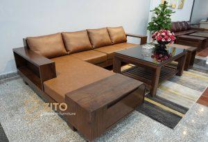 bàn ghế gỗ óc chó cho biệt thự tại ZITO