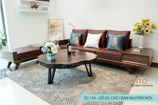 Combo sofa văng gỗ óc chó ZG 130