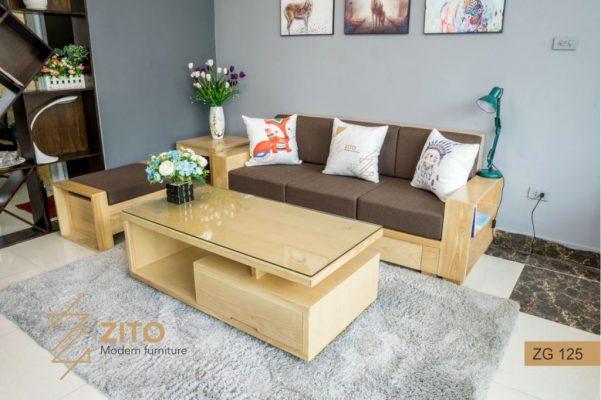 Sofa gỗ sồi văng ZG 125 S03
