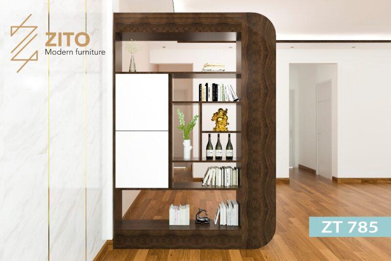 ke go trang tri ZT 7851 Kệ trang trí gỗ sồi ZT 785