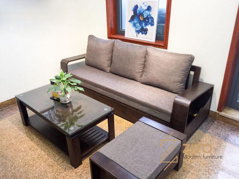 sofa giường gỗ sồi hiện đại ZG 136