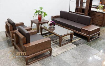 sofa gỗ sồi chữ U ZG 138 S08