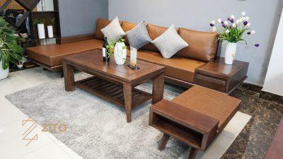 Sofa góc ZG 132 làm từ gỗ tự nhiên cao cấp