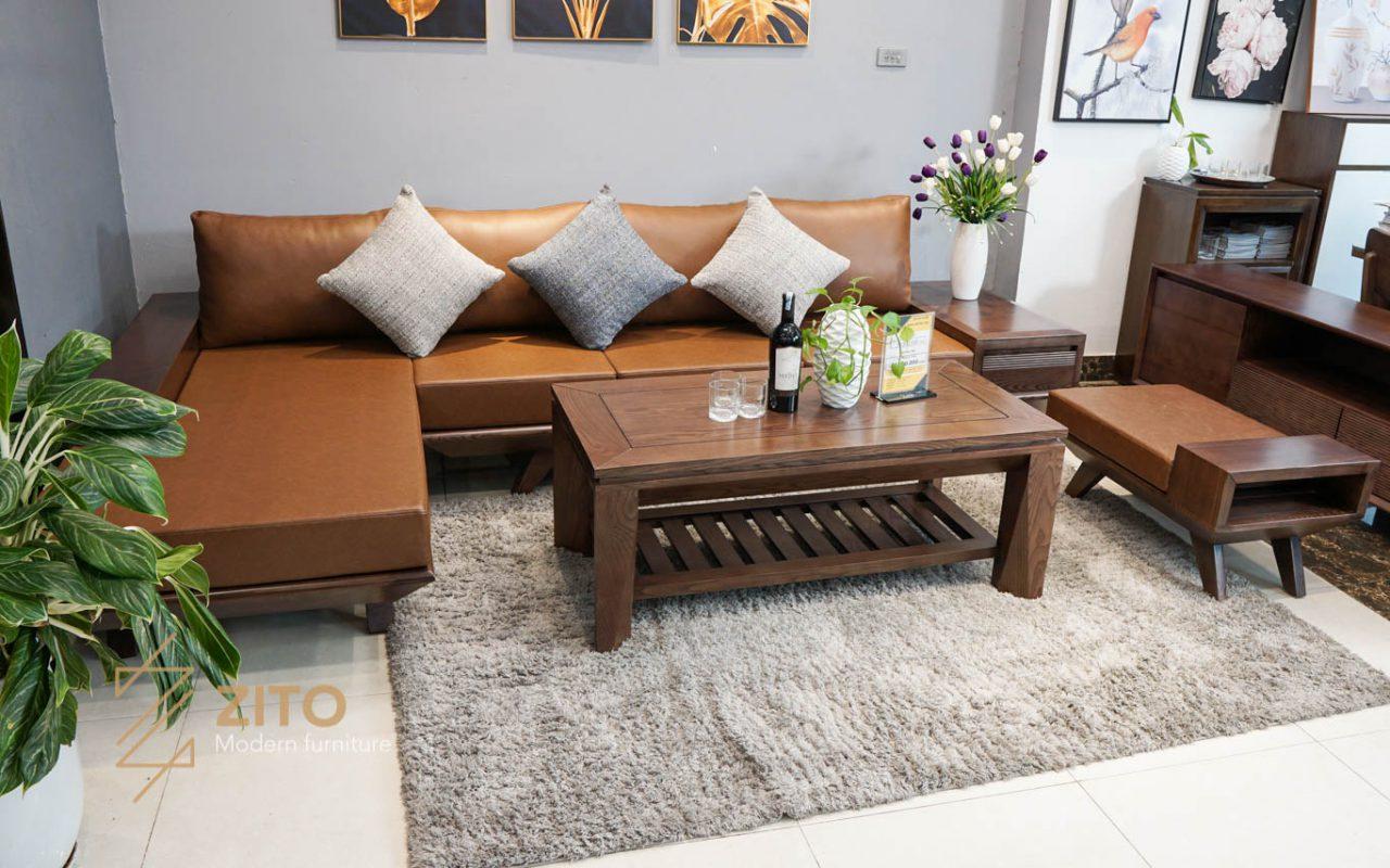 Kiểu dáng sofa góc L ZG 132 S08 cho phòng khách vừa và lớn