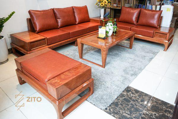 Sofa gỗ hương chữ U ZG 134 GH