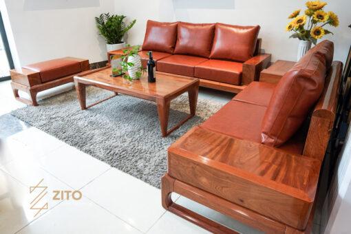 Kiểu dáng sofa gỗ hương ZG 134 phù hợp với mọi không gian