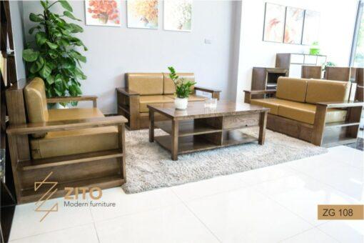 sofa gỗ Sồi ZG 108 kiểu dáng mới