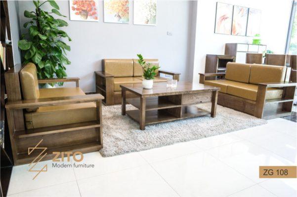 Sofa góc chữ u gỗ sồi nga ZG 108 S08